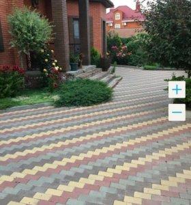 Укладка тротуарной плитки, любого вида.