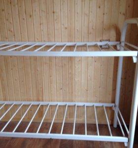 Кровать металлическая двухъярусная размер 70 / 180