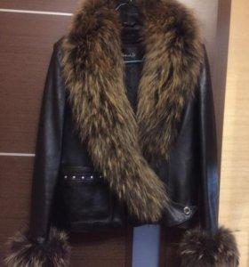 Кожанная куртка с мехом