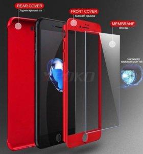 Чехол 360 град для iPhone 6+чёрный цвет
