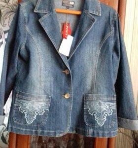 джинсовый пиджак новый 52-54