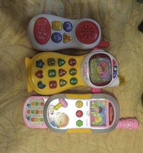 Детский телефон игрушечный