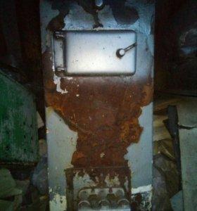Печь дрова-газ