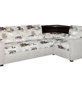 Угловой диван Виктория 3-1 с угловой полкой 1400