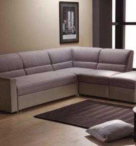 Угловой диван Виктория 3-1 фреш 1400 (дельфин)