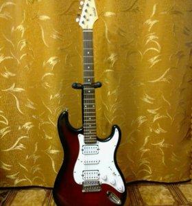 Гитара, процессор, подставка для гитары