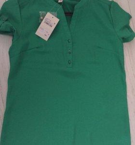 Зелёная блузка новая