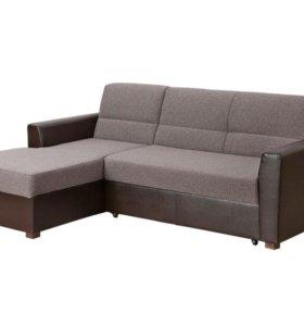 Угловой диван Виктория 2-1 с увеличенным ящиком