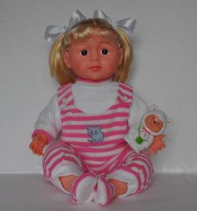 Кукла говорящая 48см мягконабивная типа Аннабель