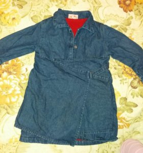Новое утепленное джинсовое платье