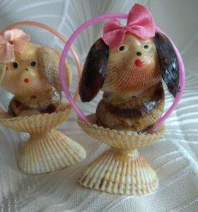 Собачки из ракушек