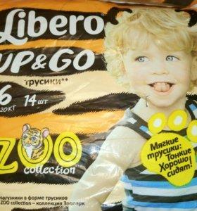 Трусики - подгузники Libero zoo 6
