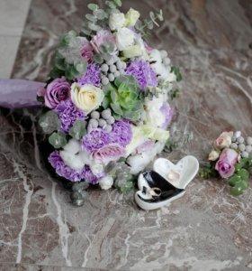 Букет невесты, свадебный букет, оформление цветами