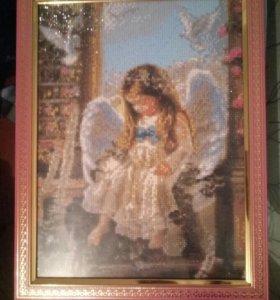 Картина стразами Ангелочек
