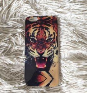 Чехол на iPhone 6/6S оскал тигра