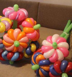 Букеты, цветы из шаров!