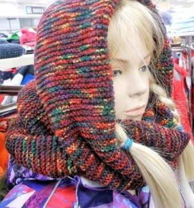 Вязаный шарф-снуд, для девушки.