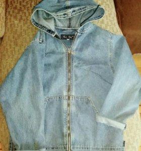 Ветровка джинсовая с капюшоном