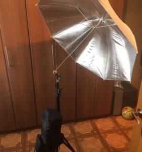 Штатив +зонт SLIK 1800