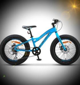 """Велосипед Stels 20"""" Pilot 280 MD mini Fatbike Blue"""