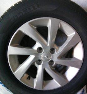 колеса на дисках (новые) лето R-15 195/65 4 шт+зап
