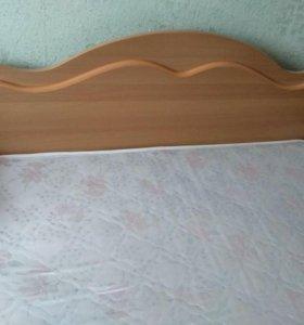 Кровать с матрасом 2х сп