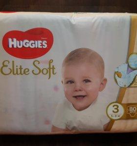 Подгузники Huggies Elite Soft 3 5-9кг 80шт
