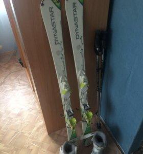Горные лыжи Dynastar с ботинками