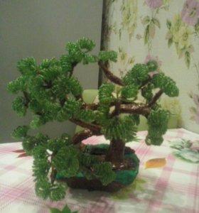 Цветы и деревья из бисера. Делаю на заказ.