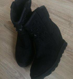 Сапоги ботинки замшевые
