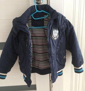 Куртка на мальчика осенняя утеплённая