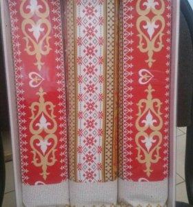 Подарочные наборы полотенец из рогожки)