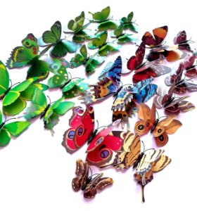 Бабочки 3D четырёхкрылые