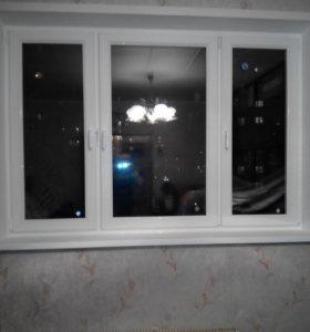 Окна ПВХ Rexau KBE Novotex Двери метал и меж-ком