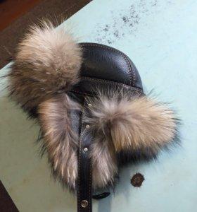 Куртка кожаная и шапка