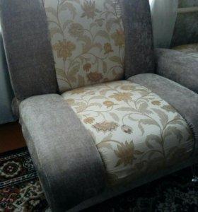 Кресло+пуфик