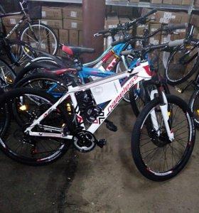 Горный велосипед с дисковыми тормозами
