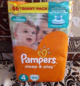 Подгузники Pampers Sleep&Play 4 (8-14 кг) 86 шт.