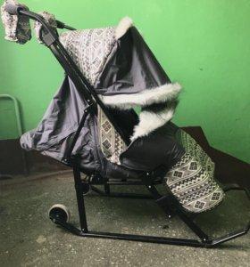 Санки коляска Kristi Premium