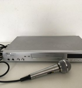 DVD плеер караоке BBK 918S и микрофон LG ACC-M900K
