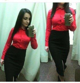 Красная рубашка/блуза