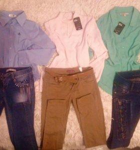Блузки и джинсы