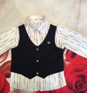 Рубашка (+ жилет) 2 в 1 110