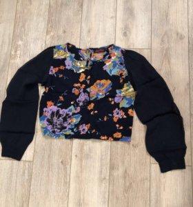Модный топ с цветочным принтом