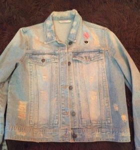 Новая джинсовая куртка Mango