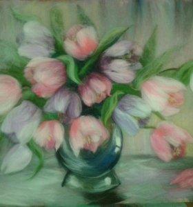 Шерстяная акварель, картина
