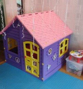 Домик фиолетовый для помещений и улицы