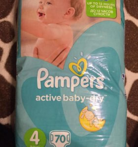 Pampers Active Baby-Dry 4 (8-14 кг 70 шт)