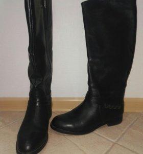 Зимние сапоги кожаные