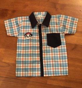 Рубашка с коротким рукавом assign с пандой